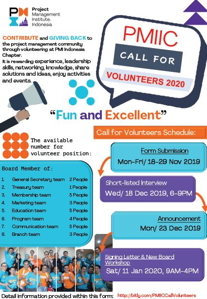 Flyer call for volunteer 2020